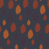 Seamless autumn vector pattern with fallen leaves — Stockvector