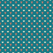 Cute simple seamless valentine's day background — Stok Vektör