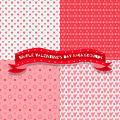 Set of four cute and simple valentine's day backgrounds — Stockvector