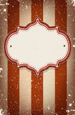 Vintage vector circus inspired frame with a space for text — Stock Vector