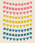 Vector bunting flags — 图库矢量图片