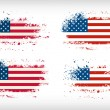 Grunge american ink splattered flag vectors — Stock Vector #49652353