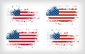 Grunge american ink splattered flag vectors — Stock Vector