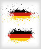 Grunge german ink splattered flag vectors — Stock Vector