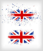 Grunge British ink splattered flag vectors — Stock Vector