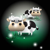 Cute friendly cow — Stock Vector