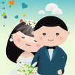 Wedding couple — Stock Vector #29021077