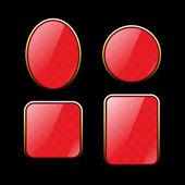 Lesklý červený rámeček — Stock vektor