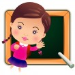 Schoolgirl, Back to school — Stock Vector