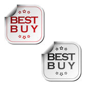 Best buy stickers — Stock Vector