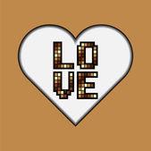 Lettering LOVE. — Stock Vector