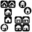 Houses icons set. Real estate — Stock Vector