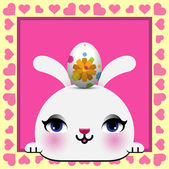 Cute Happy Easter card — Stock Vector
