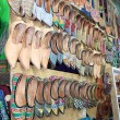 Stock Photo: Shoes on market in Arpora, North Goa, India