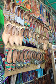 Shoes on the market in Arpora, North Goa, India — 图库照片