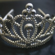 Old diadem on a backing — Stock Photo