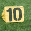 10 Yard Line on American Football Field — Stock Photo