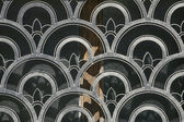 Abstract decorative metal protection for windows — Stock Photo