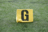 G Yard Line on American Football Field — Stock Photo