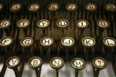 Vecchia macchina di battitura ha e lettere — Foto Stock