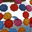 Umbrellas in different colors — Stok fotoğraf