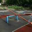 Stock Photo: Playground children's child seesaws teeter on summer kids playground