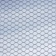 Metal wire fence protection isolated on sky for background — Stock Photo