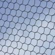 Metal wire fence protection isolated on sky for background — Stock Photo #44525765