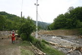 Worst flooding on record across the Balkans in Serbia — Stock Photo
