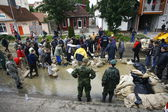 Worst flooding on record across the Balkans in Serbia — Stok fotoğraf