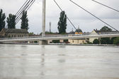 Worst flooding on record across the Balkans in Serbia — Zdjęcie stockowe