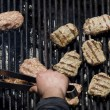 Chopped meat kebapcheta, meatballs, charcoal grill — Stock Photo #22786616