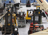 Forklift loaders — Stock Photo
