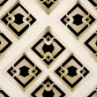 Photo: White rhombus wall pattern