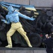 Stock Photo: BulgariUkraine Soviet Army Monument Graffiti