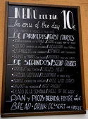 Spain Menu Board Food — Stock Photo