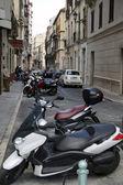 Malaga street koloběžky — Stockfoto