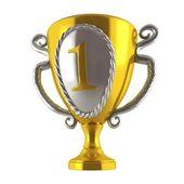 Golden trophy winners — Stock Photo