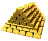Bunch of gold bars — Foto Stock