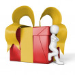 Stock Photo: My gift in red and yellow