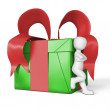 My gift in red and green — Foto Stock