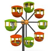 Ferris wheel at a county — Stock Photo