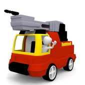 The fire truck — Stock Photo