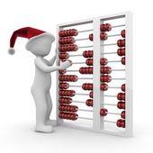 Christmas abacus — Stock Photo