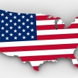 usa map — Stock Photo