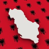 Albania map and flag — Stock Photo