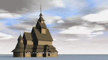 Borgund Stave Church — Stock Video