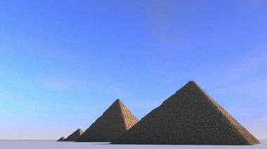Giza pyramid complex — Stock Video