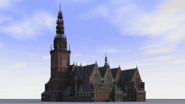 Oude Kerk — Stock Video