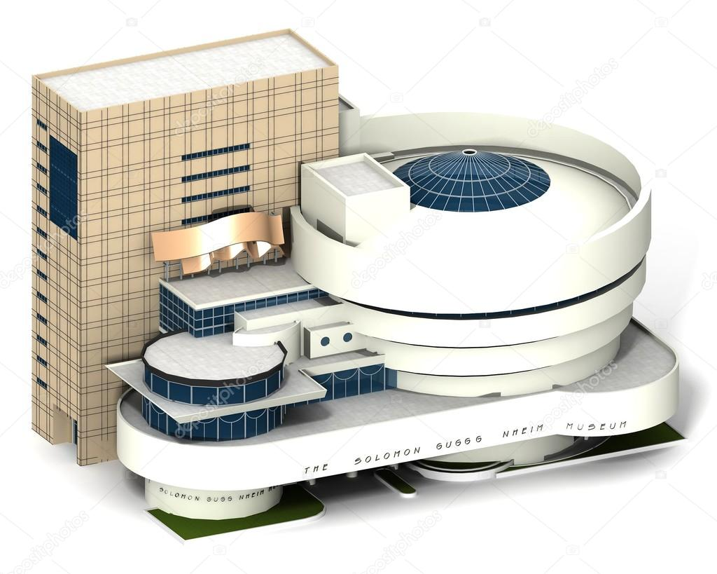 Guggenheim museum newyork 2 stock photo 3d agentur for Where do models live in new york
